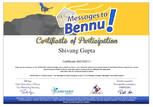 Bennu Calling